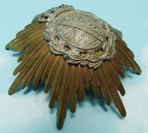 WAPPEN - SAXONY - FOR PICKELHAUBE  - OFFICER - LINE-INFANTRY REGIMENT - Imperial German Military Antiques Sale