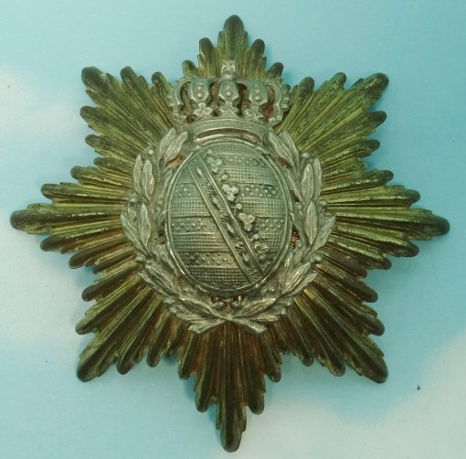 WAPPEN - SAXONY - FOR PICKELHAUBE OR KUEGELHELM  - LINE INFANTERIE OR LINE-ARTILLERIE - Imperial German Military Antiques Sale