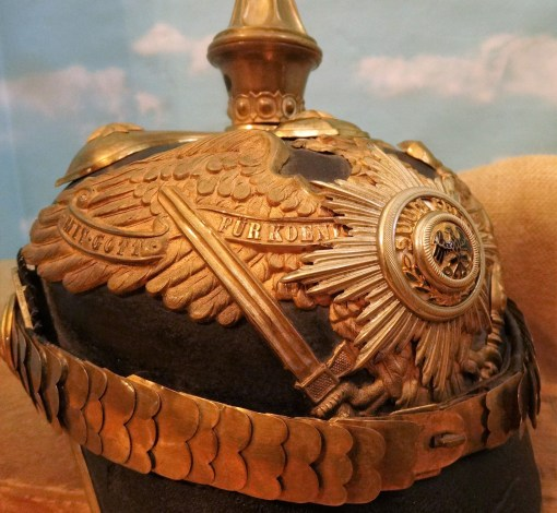 PRUSSIA - PICKELHAUBE - GENERAL - FULL PARADE CONFIGURATION WITH TRICHTER, PARADE FEATHERS, DAILY SERVICE SPIKE AND TRICHTER STORAGE CASE - Imperial German Military Antiques Sale