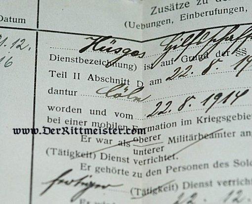 MILITÄRPAß TO A SOLDIER SERVING IN FÜSILIER-REGIMENT Nr 39 - Imperial German Military Antiques Sale