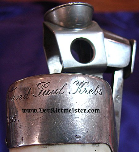 WALRUS TUSK CIGAR CUTTER - Imperial German Military Antiques Sale