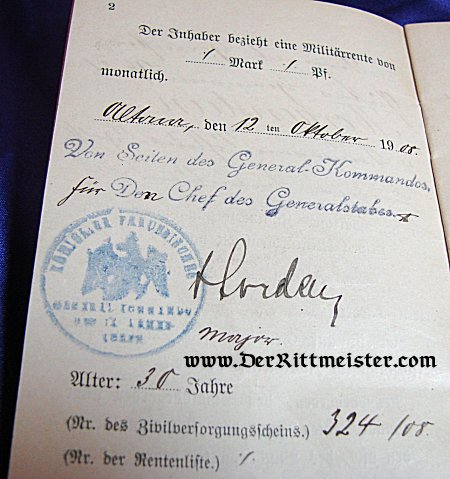 CIVIL INTERNAL PASSPORT - Imperial German Military Antiques Sale