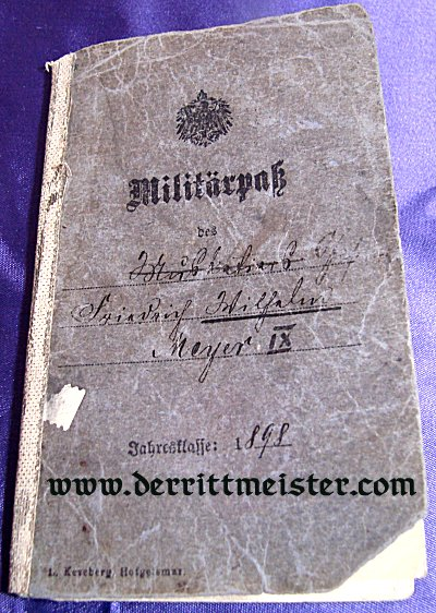 ENLISTED MAN MILITÄRPAß - INFANTERIE-REGIMENT Nr 42 - PRUSSIA - Imperial German Military Antiques Sale