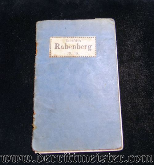 INFANTERIE-REGIMENT Nr 78 SOLDBUCH - PRUSSIA - Imperial German Military Antiques Sale