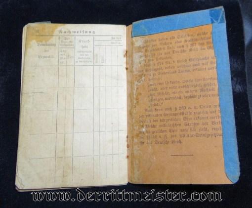 INFANTERIE-REGIMENT Nr 78 SOLDBUCH - PRUSSIA - Imperial German Military Antiques Sale