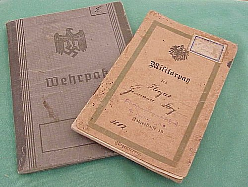 SOLDIER'S WWI AND WWII MILITÄRPAß AND WEHRPAß - Imperial German Military Antiques Sale