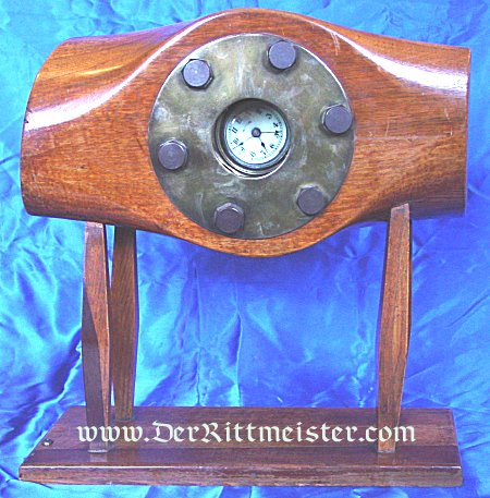 CLOCK IN AIRPLANE PROPELLER'S CENTER - Imperial German Military Antiques Sale