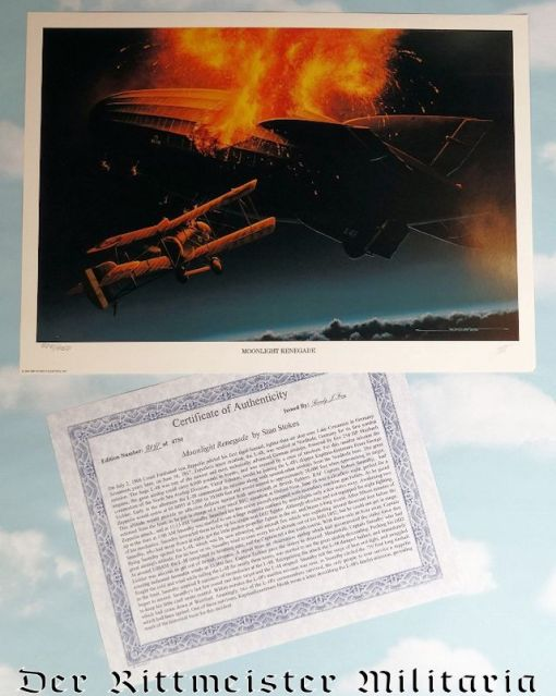 """LIMITED EDITION PRINT """"MOONLIGHT RENEGADE"""" by STAN STOKES - Imperial German Military Antiques Sale"""