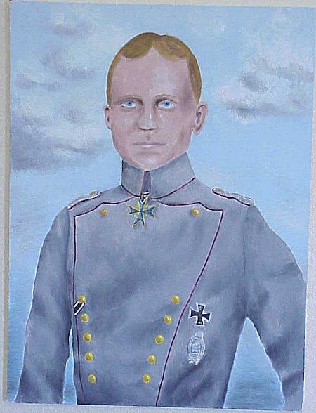 PAINTING OF FREIHERR MANFRED VON RICHTHOFEN - Imperial German Military Antiques Sale