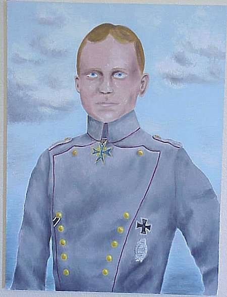 PAINTING OF FREIHERR MANFRED VON RICHTHOFEN - Imperial German Military Antiques Sale