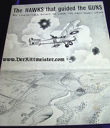 U.S. - BOOK - THE HAWKS THAT GUIDED THE GUNS by LAWRENCE L. SMART - Imperial German Military Antiques Sale