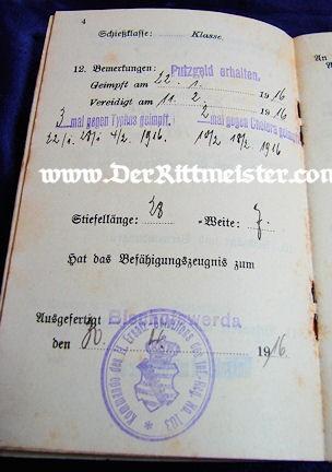 MILITÄRPAß - SAXON S'OLDIER/AVIATOR - Imperial German Military Antiques Sale