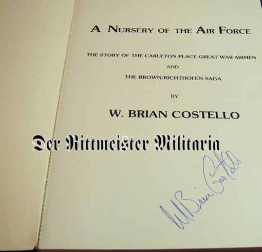 A NURSERY OF THE AIR FORCE By W. BRIAN COSTELLO - Imperial German Military Antiques Sale