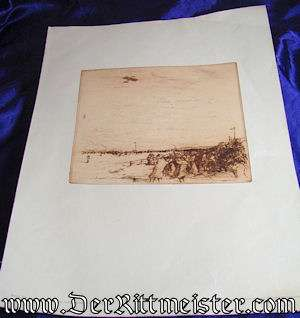 ORIGINAL PRE WW I AVIATION LITHOGRAPH - Imperial German Military Antiques Sale