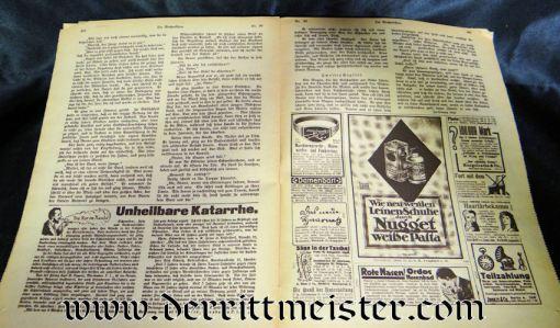 DIE WOCHENSCHAU 27 JULY 1918 - Imperial German Military Antiques Sale