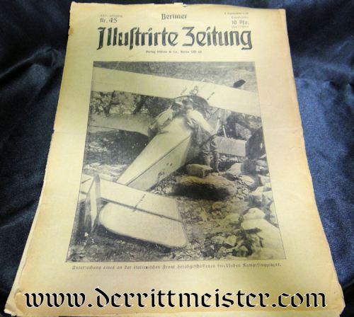 BERLINER ILLUSTRIRTE ZEITUNG 5 NOVEMBER 1916 - Imperial German Military Antiques Sale