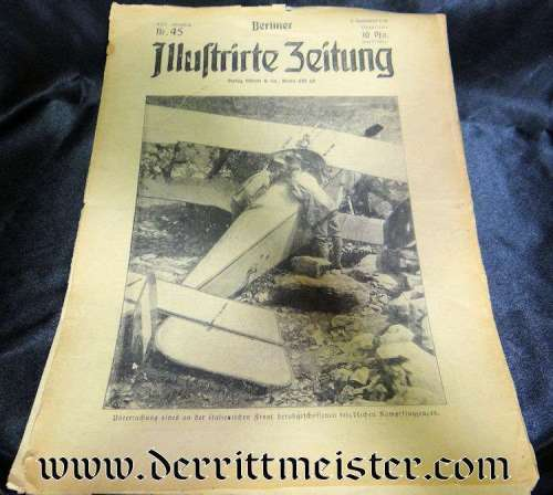 GERMANY - NEWSPAPER - BERLINER ILLUSTRIRTE ZEITUNG - 5 NOVEMBER 1916 - Imperial German Military Antiques Sale