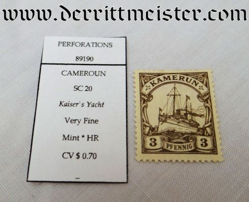 GERMANY COLONIAL - STAMP - CAMEROON - Imperial German Military Antiques Sale