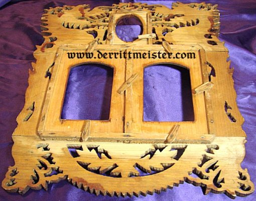 EAST ASIA COLONIAL - WOODEN FRAME  - HAND CARVED  - COMMEMORATING VETERAN'S SERVICE - Imperial German Military Antiques Sale