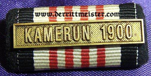 RIBBON BAR WITH KAMERUN 1900 SPANGE - Imperial German Military Antiques Sale