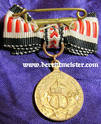 SOUTHWEST AFRICA - COMBATANT MEDAL WITH SPANGE - MINIATURE - Imperial German Military Antiques Sale