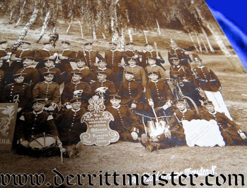 PHOTOGRAPH - LARGE-FORMAT  - SAXON INFANTERIE-REGIMENT Nr 101/RESERVE-KOMPAGNIE Nr 9 IN CHINA - Imperial German Military Antiques Sale