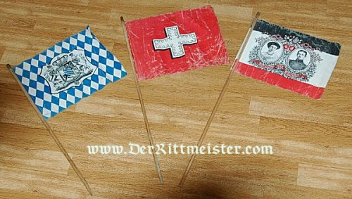 GERMANY - FLAG - TWO FABRIC PATRIOTIC FLAGS - Imperial German Military Antiques Sale