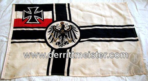 FLAG - KRIEGSFLAGGE - Imperial German Military Antiques Sale