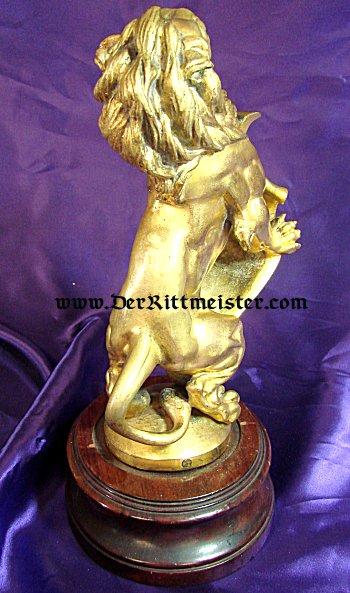 BAVARIA - STATUE - RAMPANT LION - Imperial German Military Antiques Sale
