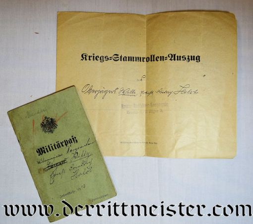 GERMANY - DOCUMENT SET FOR ENLISTED MAN WHO FINISHED WW I AS OFFIZIER-STELLVERTRETER - Imperial German Military Antiques Sale