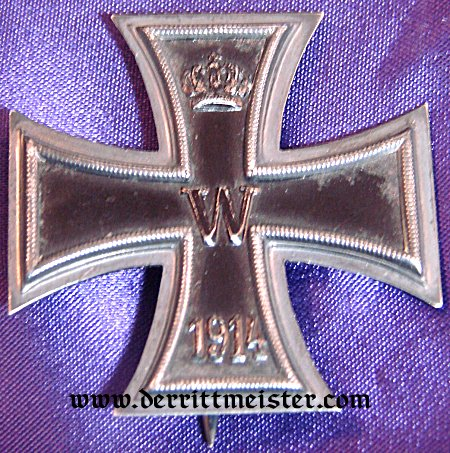 IRON CROSS - 1914 - 1st CLASS - HALLMARKED KO - ORIGINAL PRESENTATION CASE - Imperial German Military Antiques Sale