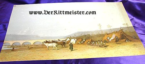 COLOR PRINT FROM ORIGINAL PAINTING - 1870/71 FRANCO-PRUSSIAN WAR - Imperial German Military Antiques Sale