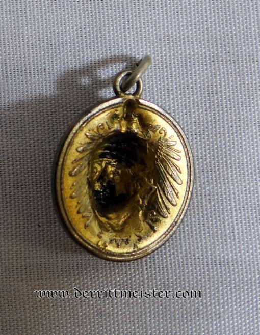 PATRIOTIC PENDANT - ONE PFENNIG COIN KAISER WILHELM II - Imperial German Military Antiques Sale