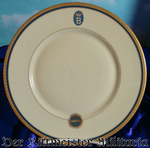 ZEPPELIN SALAD PLATE - Imperial German Military Antiques Sale