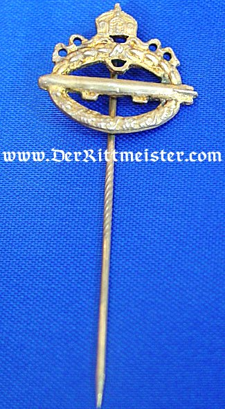 GILT COMMEMORATIVE NAVY AIRSHIP BADGE STICKPIN - Imperial German Military Antiques Sale