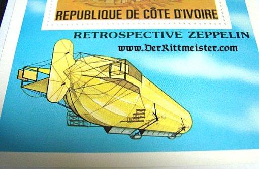 REPUBLIC DE COTE D'IVOIRE - STAMP - LARGE FORMAT - GRAF ZEPPELIN - Imperial German Military Antiques Sale