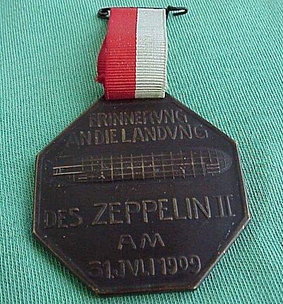 ZEPPELIN OCTAGONAL BRONZE MEDALLION. - Imperial German Military Antiques Sale