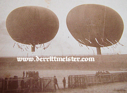 GERMANY - PHOTOGRAPH - TWO BALLOONS - PRE WW I - MATTED  - Imperial German Military Antiques Sale