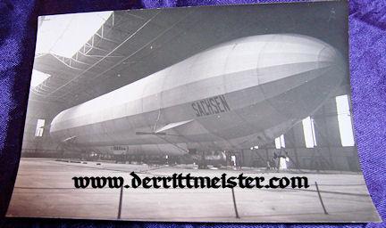 ORIGINAL PHOTOGRAPH - ZEPPELIN SACHSEN - HANGER - Imperial German Military Antiques Sale