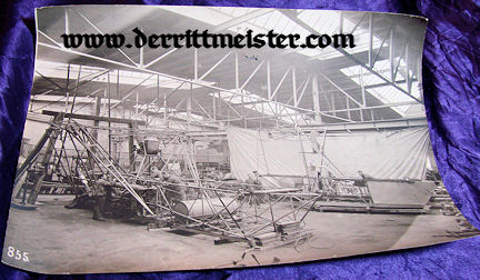 LARGE-FORMAT PHOTOGRAPH - HANGER - MECHANICS - ZEPPELIN ENGINES - Imperial German Military Antiques Sale