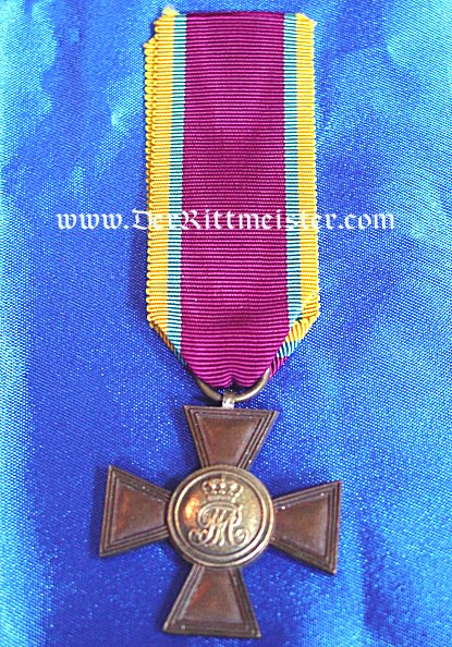 MILITARY SERVICE CROSS 1st CLASS - TWENTY-ONE YEARS LONG SERVICE - MECKLENBURG-SCHWERIN - Imperial German Military Antiques Sale