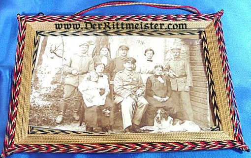 GERMANY - PHOTO - FRAMED - SOLDIER'S FAMILY - Imperial German Military Antiques Sale