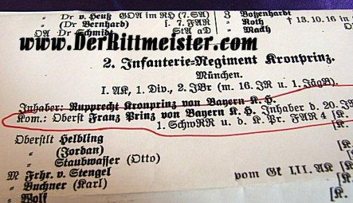 BAVARIA - EPAULETTES - REGIMENTAL COMMANDER AND OBERST - PRINZ FRANZD - INFANTERIE-REGIMENT Nr 2 - ORIGINAL STORAGE CASE - Imperial German Military Antiques Sale