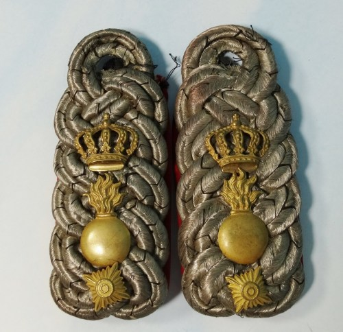 BADEN - SHOULDER BOARDS - OBERSTLEUTNANT - FELD-ARTILLERIE-REGIMENT - Imperial German Military Antiques Sale