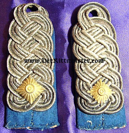 SAXONY - SHOULDER BOARDS - OBERSTLEUTNANT - HUSAREN-REGIMENT OR ULANEN-REGIMENT - - Imperial German Military Antiques Sale
