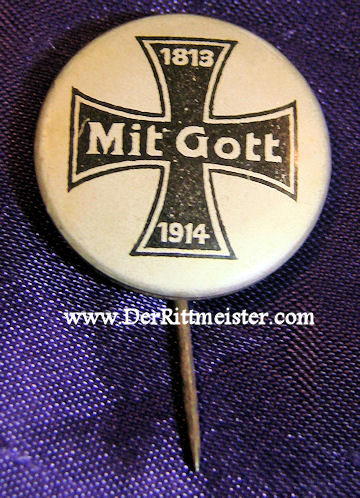 PATRIOTIC IRON CROSS STICKPIN - Imperial German Military Antiques Sale