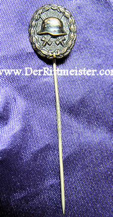 STICKPIN - 1914 BLACK ARMY WOUND BADGE - Imperial German Military Antiques Sale