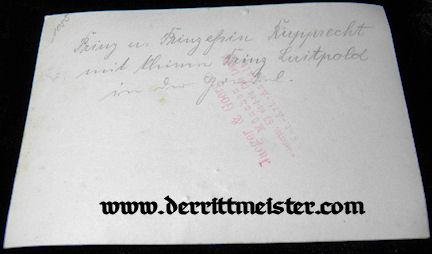 LARGE-FORMAT ORIGINAL PHOTOGRAPH - KRONPRINZ RUPPRECHT - OBSERVATION BALLOON - Imperial German Military Antiques Sale