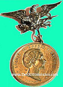 BAVARIA - PATRIOTIC BADGE - KING LUDWIG II - Imperial German Military Antiques Sale