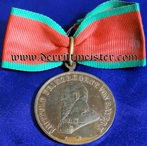 BAVARIA - COMMEMORATIVE MEDAL - PRINZ REGENT LUITPOLD - Imperial German Military Antiques Sale